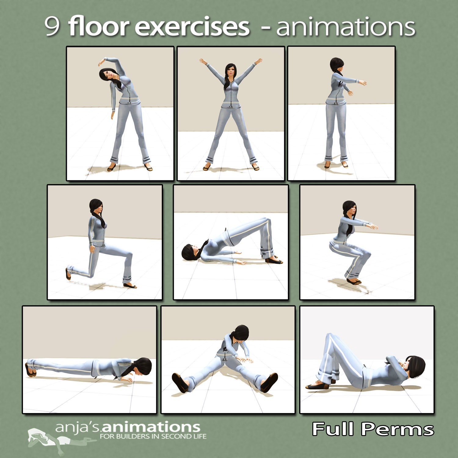 Floor exercises anja 39 s animations for Floor workout